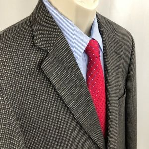 Pronto Uomo sport coat Blazer Black Grey 42R